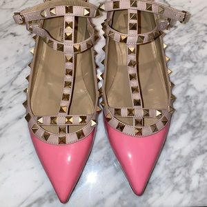 Pink Valentino Flats